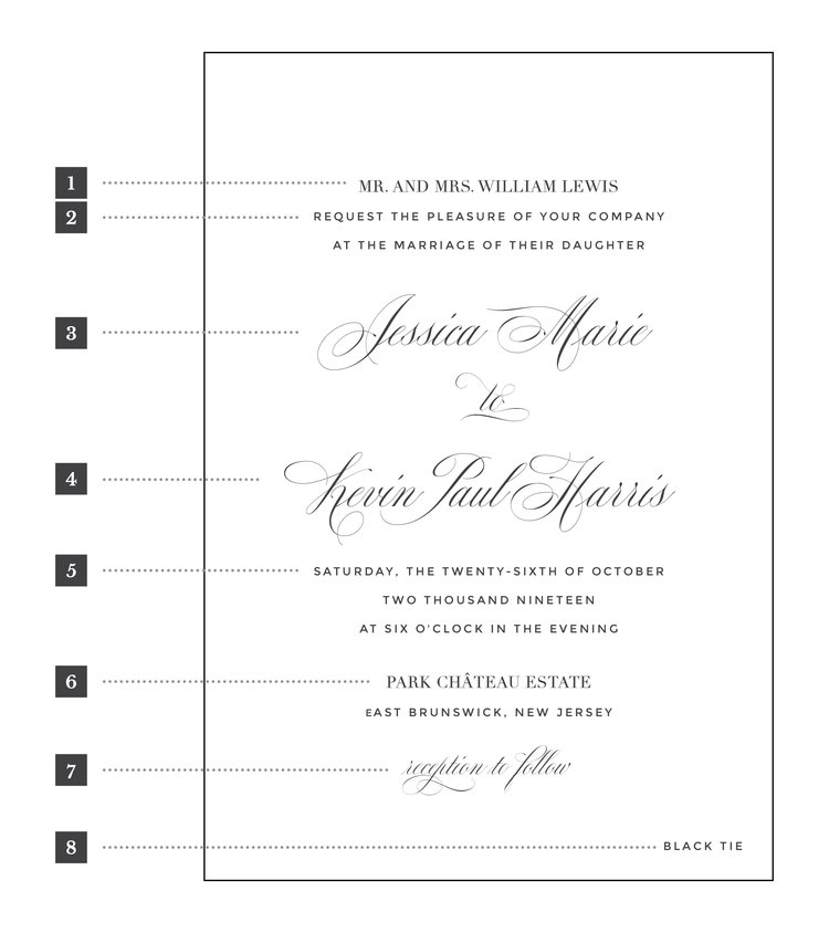 wedding invitation wording penn paperie Invitation Wording For Weddings