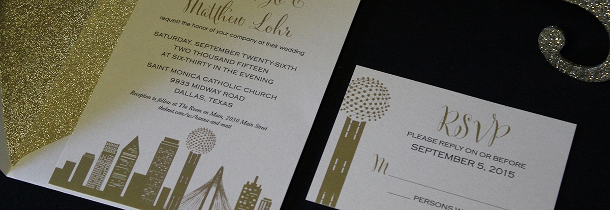 wedding invitations austin and the hill country custom Wedding Invitations Austin