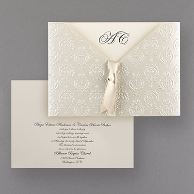 wedding invitations from the usa lebouquet blanc Wedding Invitation Usa