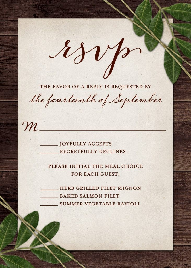 wedding rsvp wording and card etiquette 2019 shutterfly Wedding Invitation Response Cards