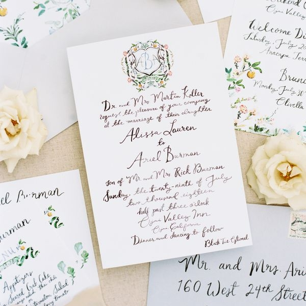 what to include in a wedding invitation suite What Goes Inside A Wedding Invitation
