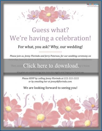 Beautiful invitation wording for a casual wedding lovetoknow Informal Wedding Invite Wording