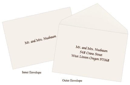 Cool checking it off the list helpful tips for assembling What Is The Inner Envelope For Wedding Invitations