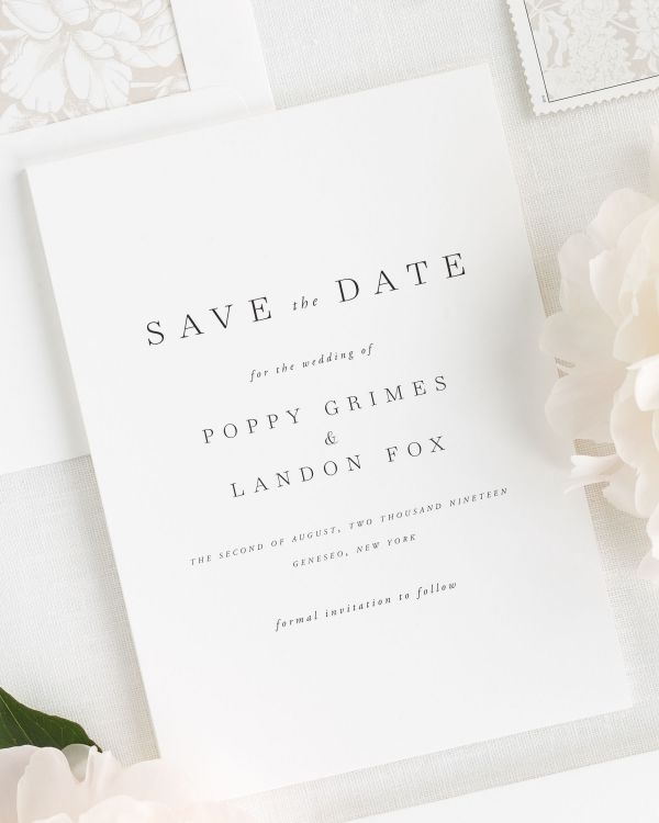 Modern mid century romance save the date cards save the date Wedding Save The Date And Invitation Packages Design