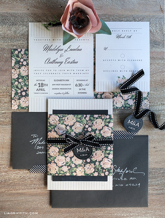 New diy vintage wedding invitation set How To Package Wedding Invitations Design