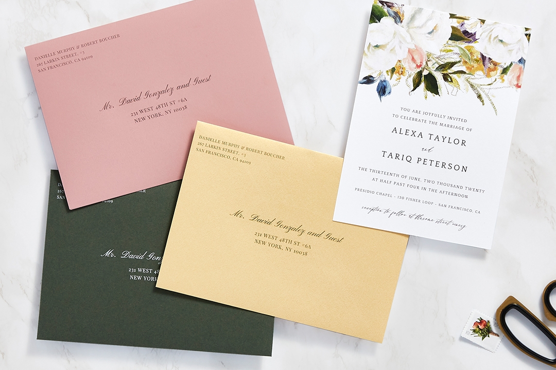 New how to address wedding invitations zola expert wedding advice What Is The Inner Envelope For Wedding Invitations