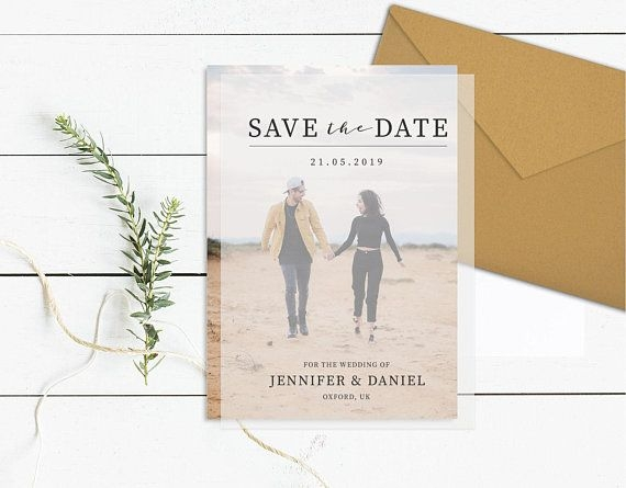 New transparent photo save the date template clear save our date Wedding Save The Date And Invitation Packages Design