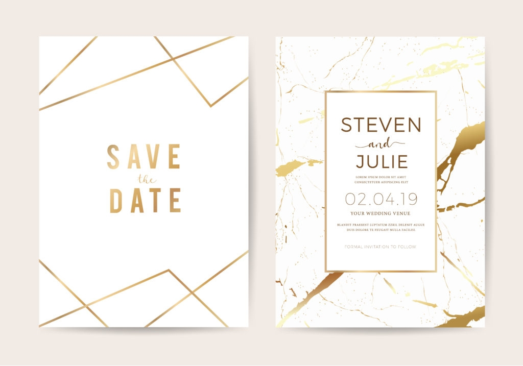 Stylish save the date vs the wedding invitation everything you need Wedding Save The Date And Invitation Packages Design