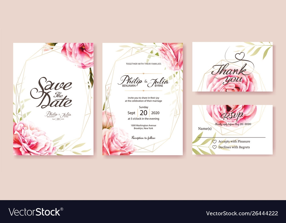 wedding invitation save date rsvp card Wedding Save The Date And Invitation Packages Design