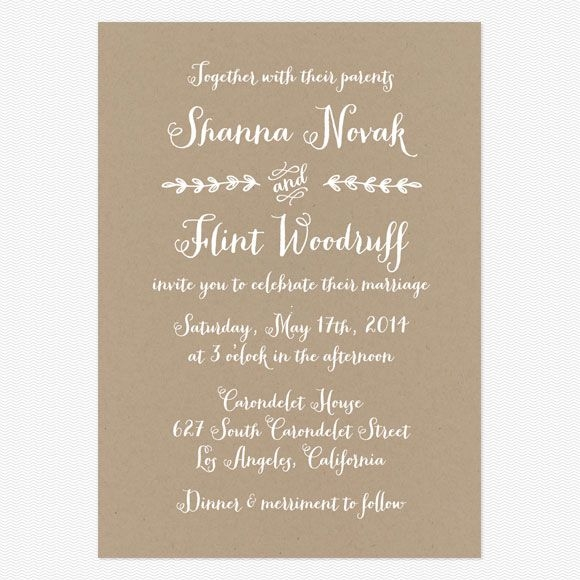 wedding invitation wording that wont make you barf Informal Wedding Invite Wording
