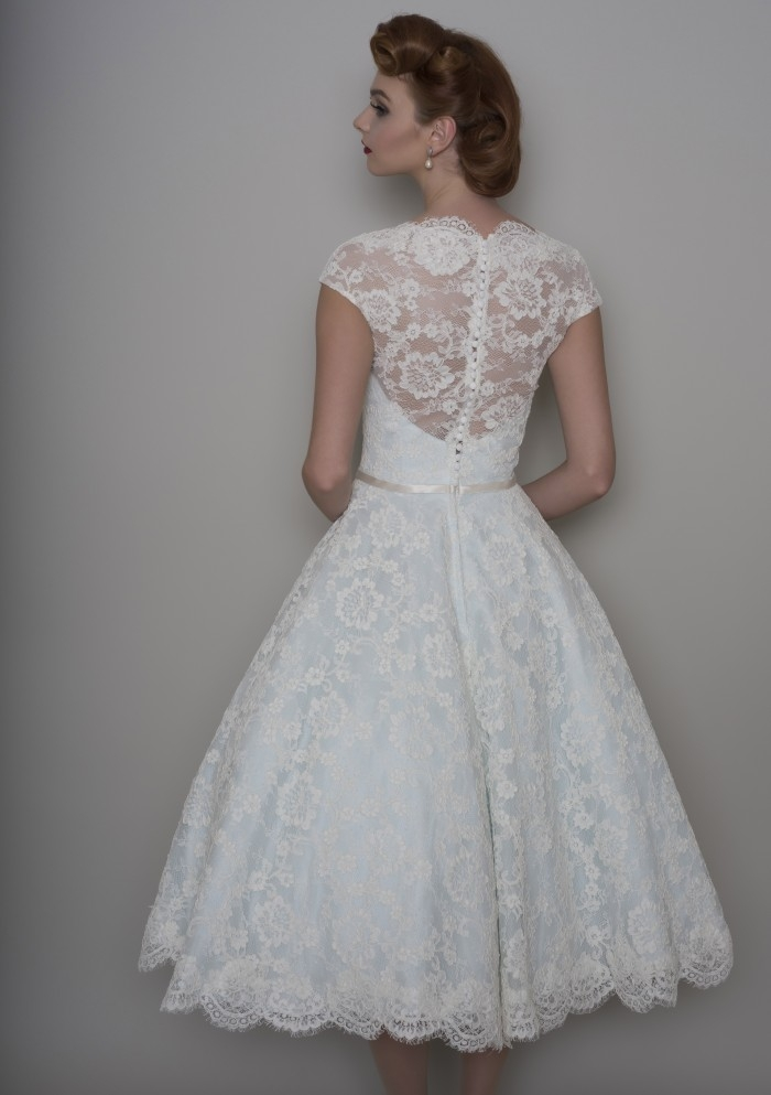 Elegant 25 of the most beautiful tea length short wedding dresses Beautiful Short Lace Wedding Dresses With Sleeves