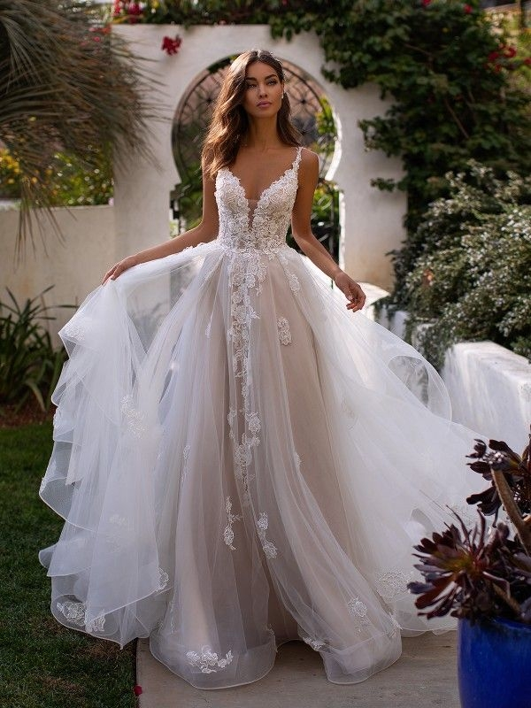 New pin on lace and beaded wedding dresses Cute Lace Bodice Wedding Dresses
