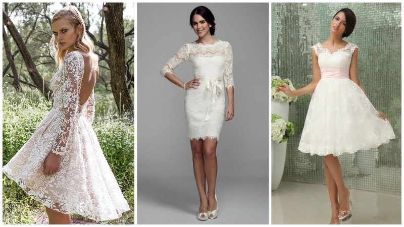 Stylish 50 most stunning lace wedding dresses the trend spotter Beautiful Short Lace Wedding Dresses With Sleeves