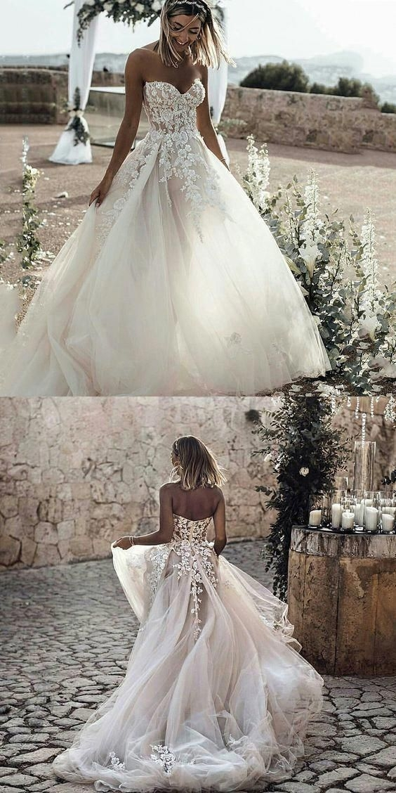 Stylish getting married look at these wedding inspirations Pretty Lace Princess Wedding Dress Inspirations