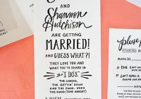 10 wedding invitation wording examples you can use right now Wording For Informal Wedding Invitations
