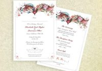 10 x personalised wedding invites double sided katiemo illustrated love swans hearts flowers floral birds invitations romantic pretty Two Sided Wedding Invitations