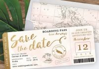 13 unique destination wedding save the date cards Save The Date Invites For Weddings