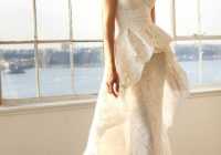 15 pretty perfect overskirt wedding dresses peplum wedding Marchesa Wedding Dress Pretty