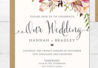 16 printable wedding invitation templates you can di Wedding Invitations Printed