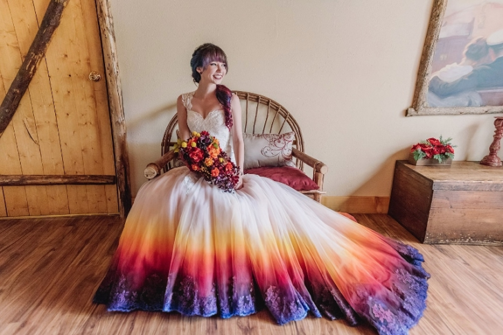 Permalink to Nice Dip Dye Wedding Dress Gallery