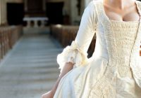 18th c style wedding gown because i can see athenodora 18th Century Wedding Dresses
