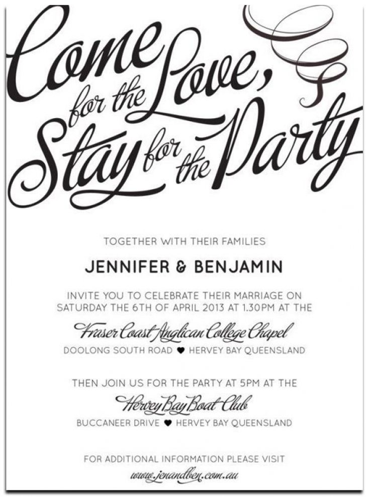 Permalink to Wording For Informal Wedding Invitations Ideas