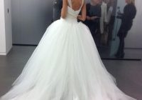 2020 custom made tulle big poofy ball gown wedding dresses Big Poofy Wedding Dress