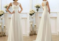 2020 new sexy beach empire plus size maternity wedding dresses cap sleeve keyhole lace up backless chiffon summer pregnant bridal gowns strapless Dhgate.Com Wedding Dress Reviews
