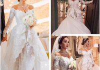 2021 new zuhair murad wedding dresses off shoulder long sleeves vintage appliques lace dubai arabia court train bridal gowns bridal wedding couture Zuhair Murad Wedding Dresses s