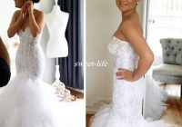 2019 lace mermaid wedding dresses crystals sweetheart backless tiered tulle sexy formal bridal gowns long vintage bride wear wedding dresses sexy Mermaid Wedding Dresses With Bling