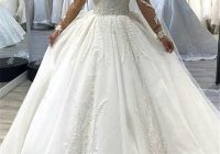 2020 luxury white off shoulder ball gown wedding dress lace appliqued long sleeves sweetheart plus size chapel bridal gown bc1995 Overstock Wedding Dresses