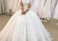 2019 new sexy arabic ball gown wedding dresses off shoulder lace 3d appliques half sleeve backless sweep train plus size formal bridal gowns Dhgate Wedding Dress