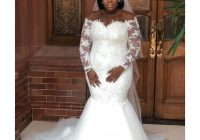 2020 plus size lace appliques mermaid wedding dresses off the shoulder sheer long sleeves bridal gowns south african wedding dress vestidos bridal Dhgates Wedding Dresses