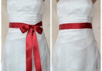 2020 red double faced satin ribbon wedding dress sash belt from honeywedding 531 dhgate Wedding Dress Sashes And Belts