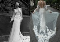 2020 gorgeous inbal dror mermaid wedding dresses v neck appliques illusion backless bridal gowns sweep train custom made wedding dress wedding dresses Inbal Dror Wedding Dress