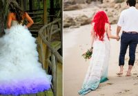 23 gorgeous dip dye wedding dresses Dip Dye Wedding Dress