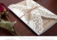 24 wonderful photo of kraft paper and lace wedding Paper Lace Wedding Invitations