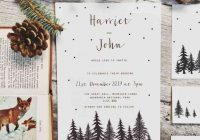 27 enchanting winter and christmas wedding invitations Christmas Wedding Invitation Wording