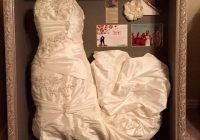30 ways to display your wedding dress and accessories Wedding Dress Preservation Box