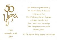 4 ideas for homemade 50th anniversary invitations 50th 50th Wedding Invitation Wording