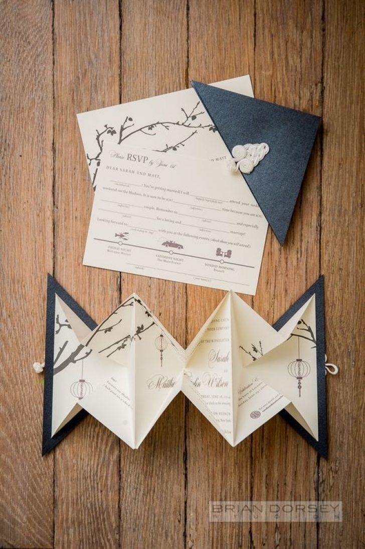 Permalink to Origami Wedding Invitations Design