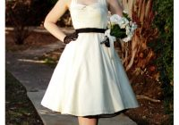 50s style ivory sateen halter style tea length wedding dress 50s Tea Length Wedding Dress
