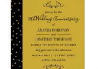 50th golden wedding anniversary invitation gold wedding 50th Golden Wedding Anniversary Invitations