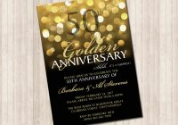 50th golden wedding anniversary invitation pure design 50th Golden Wedding Anniversary Invitations