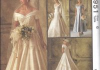 6951 uncut vintage mccalls sewing pattern wedding dress bridal gown alicyn oop Mccalls Wedding Dress Patterns