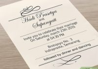 7 ways to print your own wedding invitations wikihow Wedding Invite Print