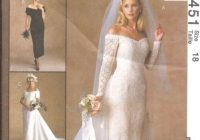 7451 uncut vintage mccalls sewing pattern wedding bridal gown bridesmaids dress Mccall Wedding Dress Patterns