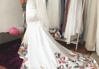 9 ways brides can take their latina wedding traditions and Mexican Embroidered Wedding Dress