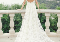 a glamorous and feminine wedding dress with dramatic back Wedding Dresses With Dramatic Backs