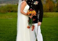 a guide to military weddings bridalguide Marine Dress Blues Wedding